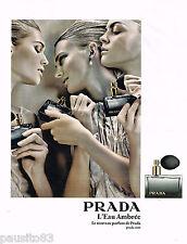 PUBLICITE ADVERTISING 065  2009  PRADA  parfum femme l' EAU AMBREE
