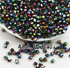 NEW 100pcs Jewelry 4mm AB Glass Crystal colorful color # 5301 Bicone beads DIY