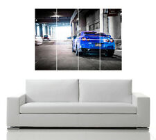 NISSAN GTR R35 CAR JAPANESE BLUE  WALL POSTER ART PICTURE PRINT LARGE  HUGE