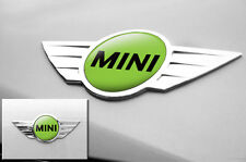 "Mini Cooper 1.75"" Inch Logo Emblems Decals x2 Vinyl Stickers for Badges GREEN"