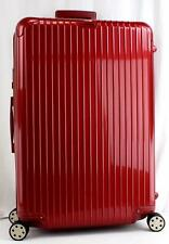 """RIMOWA SALSA DELUXE 32"""" MULTIWHEEL HARDSIDE SPINNER SUITCASE ORIENT RED"""