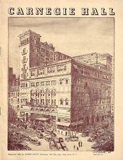 Pianist ALEXANDER KELBERINE (Suicide) Carnegie Hall 1939 Recital Program