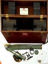 Keuffel & Esser Co. Surveying TRANSIT Level 5114 w/ Oak Box, Plump & Eye Piece