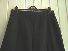 LADIES LOVELY BLACK TAILORED WIDE-LEG TROUSERS BY M&S - SIZE 16 M