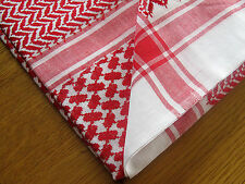 Yashmagh, Shemagh, Keffiyeh, Arabian Headress, Ghutra 100% Cotton, Red & White