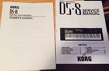 Korg Ds-8 Ds8 Ds 8 Owners Manual And Service Manual Manuals Only