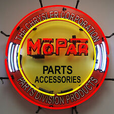 Mopar Parts & Accessories Neon Sign - Chrysler -  Dodge - Plymouth - Hemi Dealer