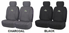 PAIR OF 18OZ WATERPROOF COTTON CANVAS CAR SEAT COVERS BMW 735LI