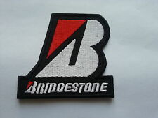 "MOTORSPORTS RACING TYRE SEW ON / IRON ON PATCH:- BRIDGESTONE (h) ""B"" BLACK"