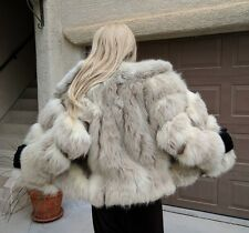 WOMEN'S GENUINE FOX FUR COAT WITH THICK PELTS