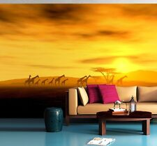 Wall mural wallpaper bedroom & living room Africa - Safari giraffes 72x100 inch
