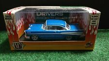 M2 Machines 1957 Chevrolet Bel-Air Blue Chase Car Auto Drivers 1/64 57 Chevy