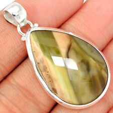 Faceted Imperial Jasper 925 Sterling Silver Pendant Jewelry IJFP119