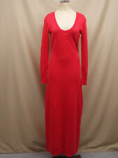 Victoria's Secret~Kiss of Cashmere~Scoop~Maxi~Sweater Dress~Large Regular~Red