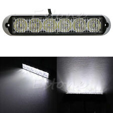 6 LED DRL Car Bar Truck Emergency Beacon Blanc Lampe Strobe Hazard Warning