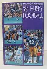 1984 UNIVERSITY WASHINGTON HUSKIES football Media Press Guide