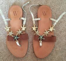 Armand Ventilo French Designer Sandals With Starfish Motif, Size 39 / UK 6