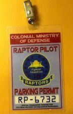 Battlestar Galactica Parking Permit-Raptor costume prop cosplay