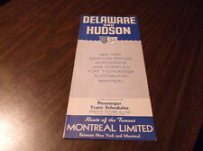 OCTOBER 1962 D&H DELAWARE AND HUDSON ***REVISED*** PUBLIC TIMETABLE