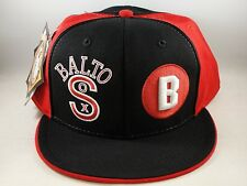 Baltimore Black Sox Negro League Headgear Size 8 Fitted Hat Cap Black Red