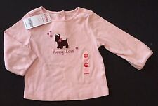 NWT Gymboree Girl Detective 12-18 Months Pink Scottie Dog Puppy Love Tee Top