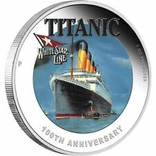 2012 Tuvalu $1 100th Anniversary of RMS TITANIC White Star Line 1 Oz Silver Coin