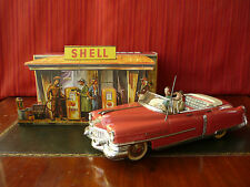Extr. Rare 1950's GAMA 350 Tin Friction Cadillac Cabrio Convertible w/ SHELL Box