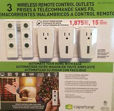 NEW Capstone 3 Wireless Remote Control Power Outlet Light Switch + 2 Remotes NIB