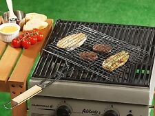 BBQ Collection Outdoor Cooking Barbecue Metal 35x24cm Grill Grilling Basket Rack