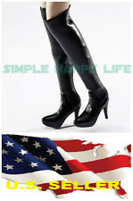 VERYCOOL 1/6 female Black fashion Knee-High Boot black widow phicen kumik ❶USA❶