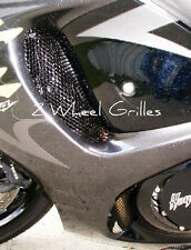 2010 SUZUKI HAYABUSA GSXR 1300 BLACK FAIRING GRILLS SCREENS VENTS MESH GRATE
