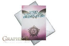 Supernatural inspired Valentine's Day Valentine Hollidays card