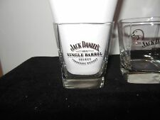 JACK DANIEL'S Single Barrel  Glasses Gold Lettering Select Tennessee Whiskey 201