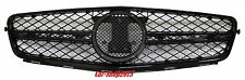 08-14 M-Benz W204 C250/C300/C350 Sedan Bright-Black C63 AMG Look Front Grille