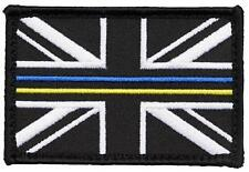 HM COAST GUARD UNION JACK BADGE VELCRO BACKED THIN BLUE/YELLOW LINE