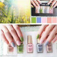 5Pcs/set 6ml Mini Olive Green Pink Grey Nail Art Polish Eco-friendly Varnish
