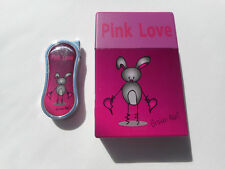 Pink Love Lighter & Cigarette Case - Broken Heart - Broken Bunny Design