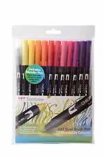 TOMBOW PENNA PENNELLO 12 COLORE SUNSET SET. DOUBLE si è conclusa artista & Craft MARKER PENNE