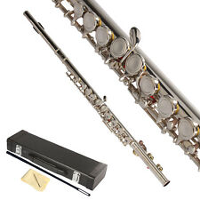 New Wind School Student Band Silver 16 Hole C Flute for Beginner with Case