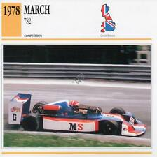 1978 MARCH 782 Racing Classic Car Photo/Info Maxi Card