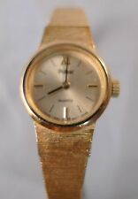 PULSAR Ladies Vintage Gold Toned Wrist Watch w Chain 5D6624