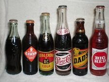 Lot of 6 full NOS vintage pop bottles Coke and others 50' 60's collection
