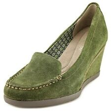 """NEW $89 Naturalizer PAISLEY Aniba Green Suede Wedge 3"""" Heel Loafer 8.5M"""