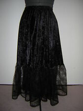 black velvet cobweb skirt custom made 10 12 14 16 18 20 22 24 26 28 30 32 34 36