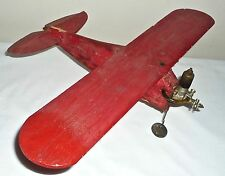 Early Hobby Flying Scale Model Tether Balsa Airplane  Baby Spitfire Engine Power