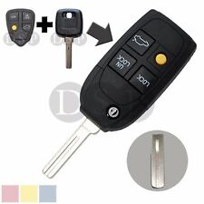 Flip Key Shell fit for Refit VOLVO S40 V40 C70 S60 S80 4 Button Remote Case Fob