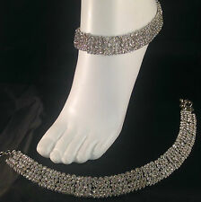 Silver Anklet/Payal,Stunning Fashion jewellery,Bollywood style,SV23-504