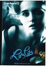 PUBLICITE  1989   CACHAREL  parfum LOULOU
