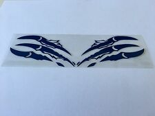 CAR MOTORCYCLE ANIMAL CLAWS DECORATION DECALS STICKER BLUE