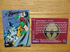 1994 BATMAN SAGA OF THE DARK KNIGHT AZRAEL VS ROBIN CARD SIGNED SCOTT HANNA,POA